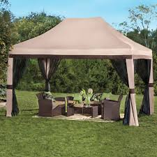 Gazebo With Awning Screen Tent For Patio Home Outdoor Decoration