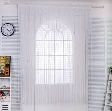 cute white lace door string curtain panels fly screen for