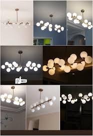 Esszimmer Lampe Schwarz Moden Kunst Pendelleuchte Gold Schwarz Magische Bohne G4 Led Lampe