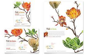 Landscaping Advertising Ideas Flower Shop Flyer U0026 Ad Template Design