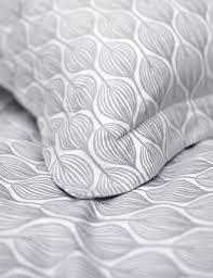 teasels dove grey cotton bedding set