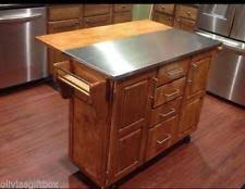kitchen islands stainless steel top tms berkley kitchen island with stainless steel top ebay