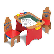 crayola table and chairs amazon com crayola creativity wooden table and chairs set baby