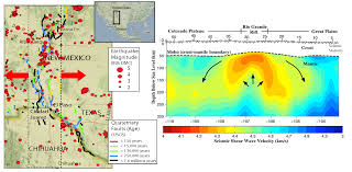 Chihuahua Mexico Map by New Mexico Texas Chihuahua Seismicity