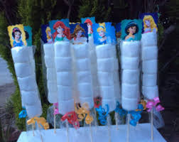 princess candy bags disney princesses 6 birthday party favor by fantastikcreations