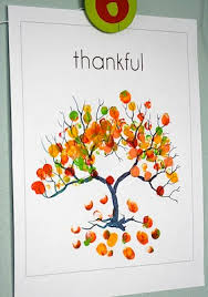 thankful fingerprint tree things to make and do crafts and