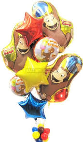 mylar balloon bouquet balloons curious george bouquet