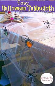 easy u0026 inexpensive diy spooky halloween tablecloth craft