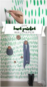 best ideas about painted wallpaper pinterest paint diy hand painted wallpaper love the green brush stroke pattern looks easy