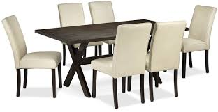 marlo 7 piece dinette set walnut and beige leon u0027s