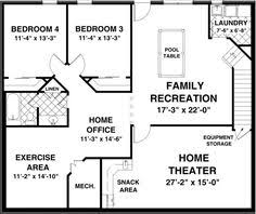 high quality finished basement plans 5 finished walk out basement