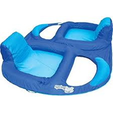 spring float recliner duet double inflatable pool lounger luxury