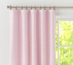 Light Pink Blackout Curtains Gingham Blackout Panel Pottery Barn