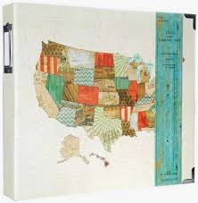 expandable scrapbook usa states map scrapbook 3 ring expandable hello traveler