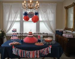 coral navy and gray baby shower decor did it myself