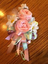 how to make a baby shower corsage baby sock baby shower corsage handmade infant sock baby shower