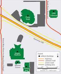 Unt Parking Map File Map Of Unt Athletic Facilities Png Wikimedia Commons