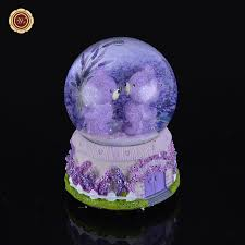 lavender musical snow globe resin snowdome gift