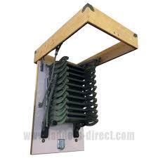 clow metal scissor loft ladder c w hatch box ladders direct com