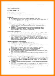curriculum vitae exles for students in south africa 8 standard cv format pdf resume setups vitae exles image