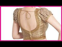 and beautiful back neck golden colour lace and work