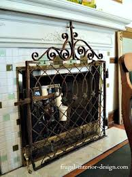 Texas Fireplace Screen by Old Wrought Iron Gate Repurposed As Decorative Fireplace Screen