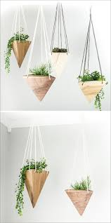 modern hanging planters fernweh woodworking creates a collection of hanging geometric wood
