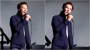 Comfortably Numb Roger Waters David Gilmour Watch Benedict Cumberbatch Sings Comfortably Numb With Pink