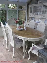 french country chic dining room table and chairs makeover by