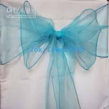 blue chair sashes 2018 50 new blue organza chair sashes bow cover banquet sash from