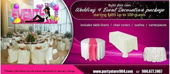 Table And Chair Cover Rentals Jacksonville Balloons Decorations Party Linen And Chair Covers Rentals