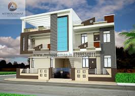 Front Elevation Design Modern Duplex Front Elevation Design - Front home design