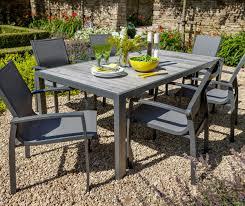 hartman 6 seat dining set in platinum 799 garden4less