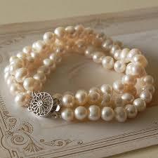 pearls bracelet images Three strand pearl bracelet by highland angel jpg