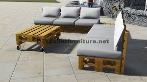 canapé d angle en palette conception de canapé d angle avec table construit en utilisant les