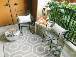 Outdoor Balcony Rugs Cozy Small Balcony Ideas Featuring Metal Fences Baluster And