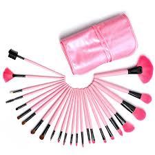 leather pouch middot description 24 piece professional designer make up brush set 24 piece mac makeup