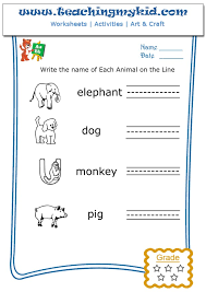 write the name of each animal archives teaching my kid