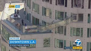 is bank of america open on thanksgiving glass skyslide to open atop u s bank tower in downtown la abc7 com