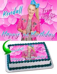 edible cake images jojo siwa joelle joanie siwa edible cake image topper personalized