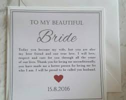 card from to groom on wedding day wedding greeting cards etsy ie