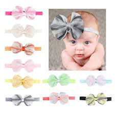 lace headwear chiffon small bow hair band girl lace headwear kids baby