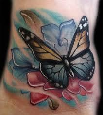 tattoos flowers and butterflies 4