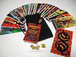 vintage halloween artwork halloween tarot cards 22 card major arcana deck with
