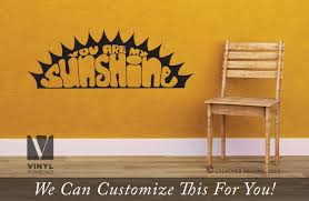 you are my sunshine crescent sun for a bedroom wall vinyl