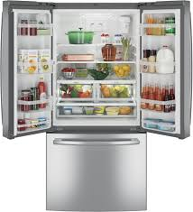 French Door Refrigerator Without Water Dispenser - ge gne25jskss 33 inch french door refrigerator with internal water