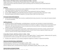 teachers resume exle professional resume sle for musician resumeusic