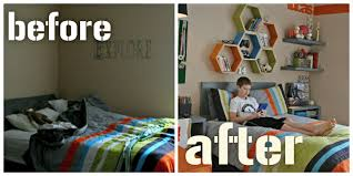 Teen Bedroom Makeover - cool teen bedroom makeover before after boys bedroom home round