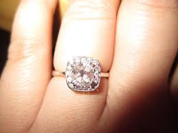 chagne diamond engagement ring diamonds kept falling out of halo had to change slightly now i
