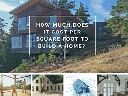 how much to build a house in michigan price per sq ft to build a house how much square foot cost of home